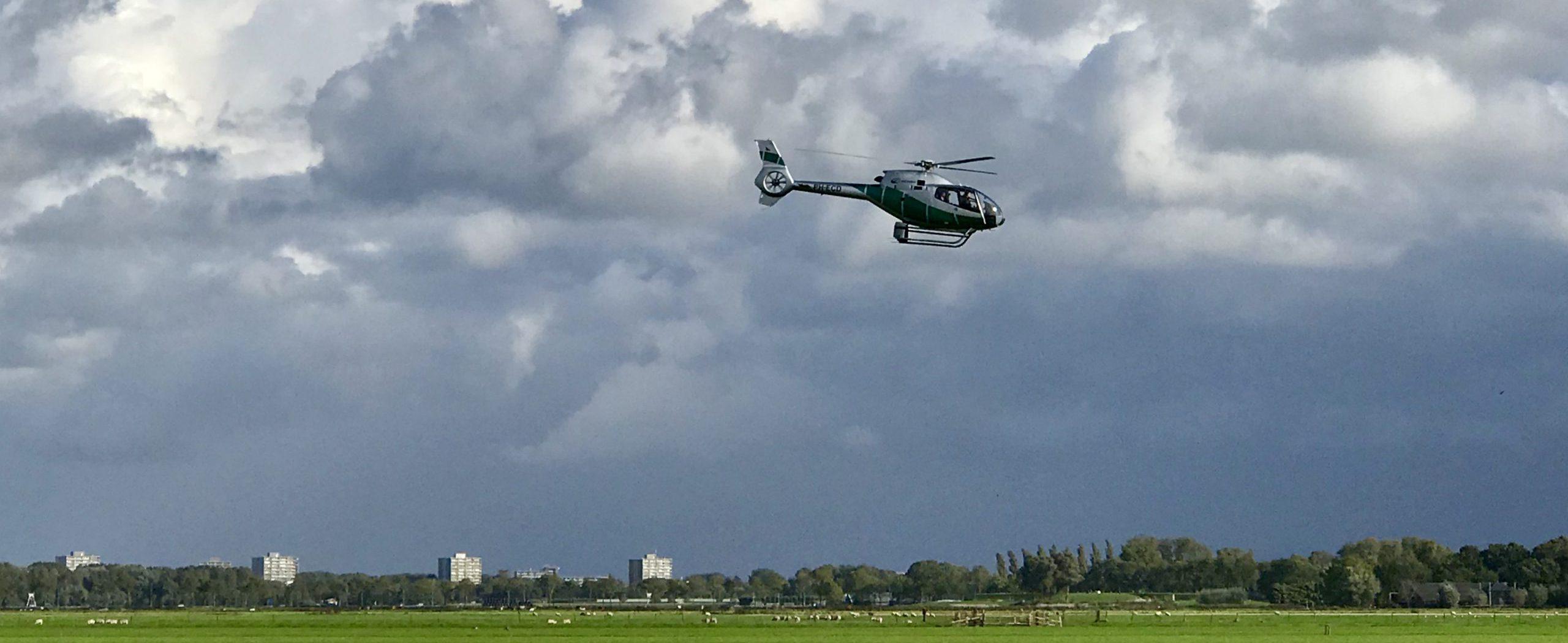 Vooraankondiging helikoptervluchten